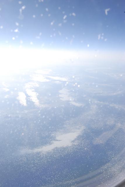 icebergs vus du ciel, au large du Canada