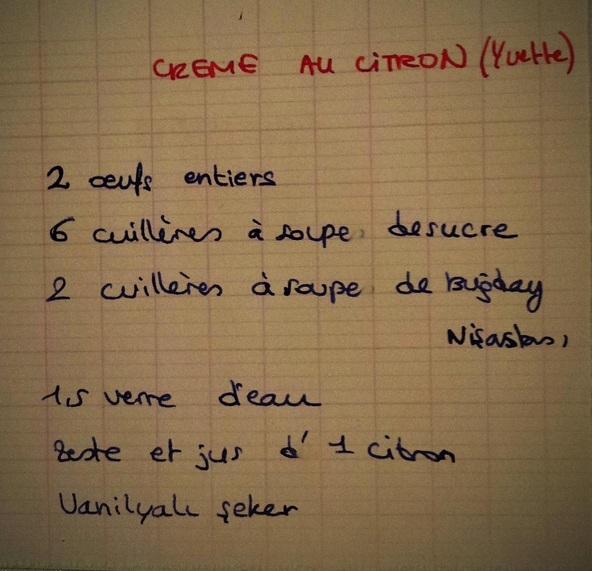 La recette de cr me au citron de ma grand m re enfin penser classer - Deboucher evier recette grand mere ...