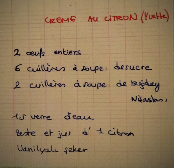 crème au citron yvette